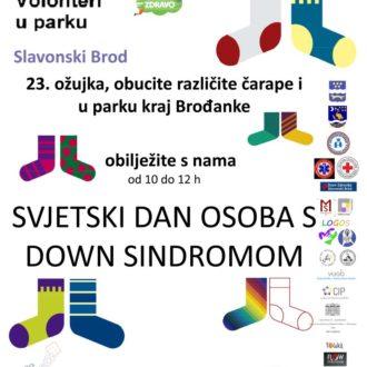 Volonteri u parku svjetski dan Down sindroma