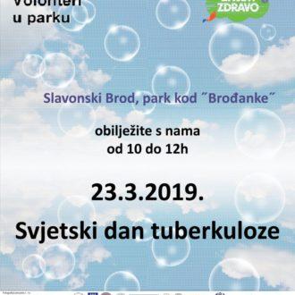 Volonteri u parku svjetski dan tuberkuloze